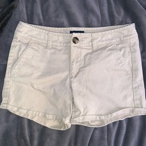 American Eagle Midi Tan Shorts